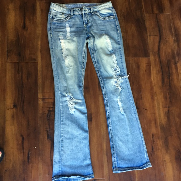 Vanilla Star Denim - Vanilla Star Destroyed Bootcut Denim Jeans
